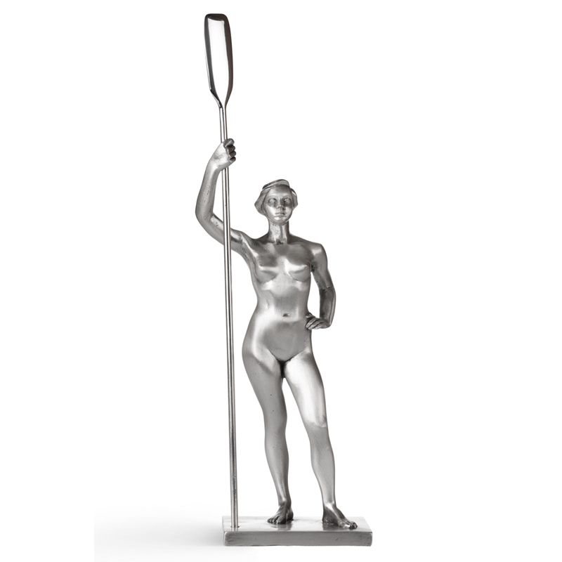 "IG0005. Buy Gourji Paperweight ""Girl with a paddle"", silver plate/resin in the online store of men's accessories and luxury gifts Gourji.ru"