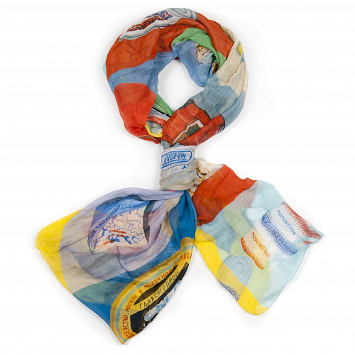 "Scarf ""Re-nutrition"", 140x140 T21PPT10S"